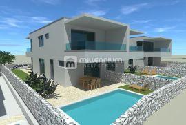 Otok Krk, Malinska, luksuzna novogradnja s bazenom, Malinska-Dubašnica, Casa