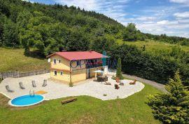 Spuštena cijena !!! Vrbovsko- kuća u netaknutoj prirodi sa bazenom, Vrbovsko, Дом