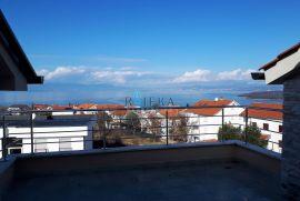 Njivice, otok Krk, stan s pogledom na more, Omišalj, Kвартира