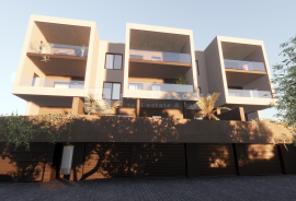 Vodice, moderna zgrada s devet luksuznih stanova, pogled, lift, garaže, ostave, prvi kat, Vodice, Stan