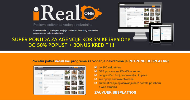 iRealOne program za nekretnine