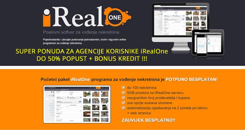 iRealOne program za nekretnine